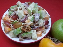 Apple Persimmon Waldorf Salad
