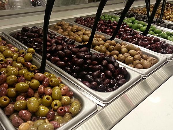Olive Bar at Bristol Farms - Los Angeles, California