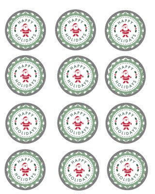 Free Printable Happy Holidays Mason Jar Gift Labels