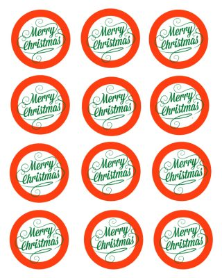 Free Printable Merry Christmas Mason Jar Gift Labels