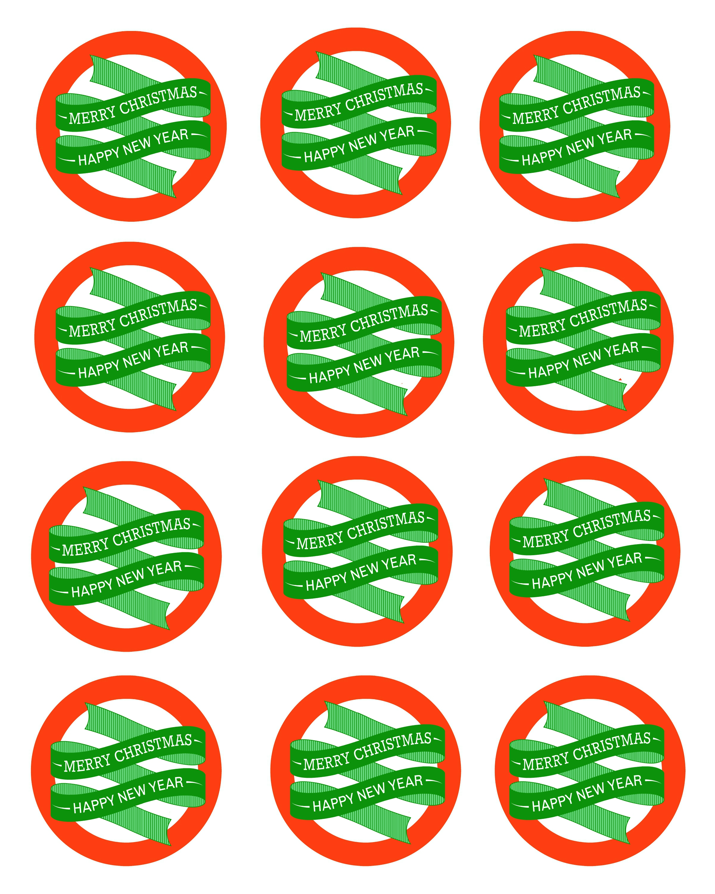 Free Printable Mason Jar Gift Labels – Merry Christmas & Happy New ...
