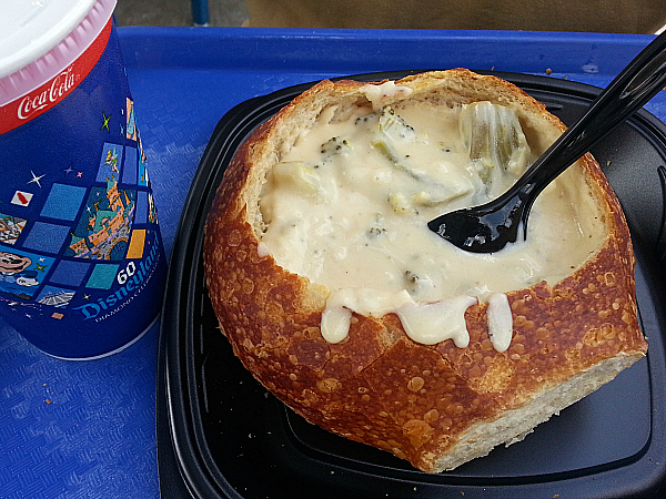 Bread Bowl Soup at Pacific Wharf Cafe - Disney California Adventure