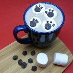 Polar Bear Paw Print Marshmallows for Hot Cocoa
