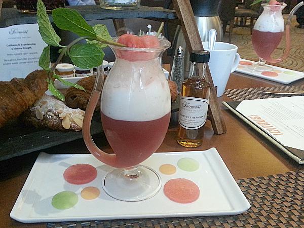 Watermelon Mint Juice at Citrus California Dining - Fairmont Hotel Newport Beach