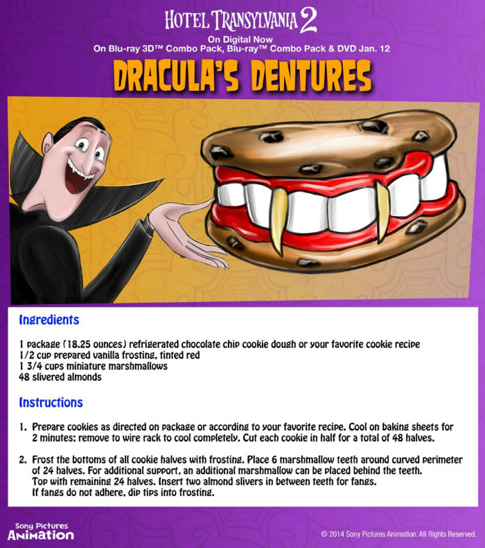 Halloween Draculas Dentures Snack Recipe