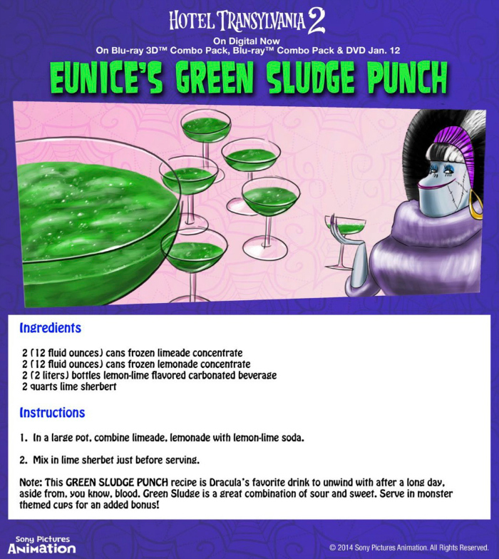 Hotel Transylvania Halloween Party Food - Eunice's Green Sludge Punch