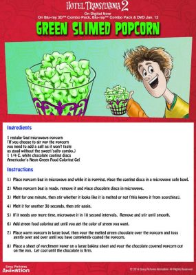 Hotel Transylvania Halloween Party Food – Green Slimed Popcorn