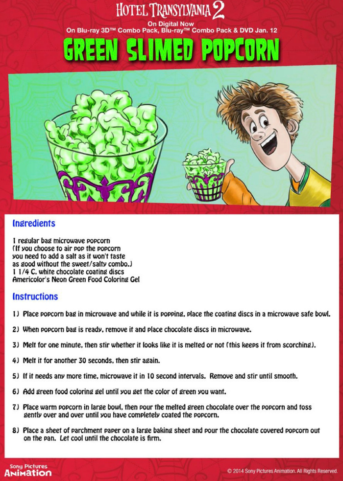 Halloween Green Slimed Popcorn Recipe