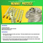 Halloween Mummy Pretzels Recipe
