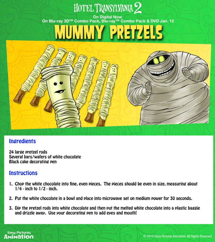 Halloween Mummy Pretzels Recipe
