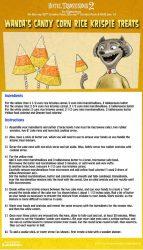 Hotel Transylvania Halloween Party Food - Candy Corn Rice Krispie Treats