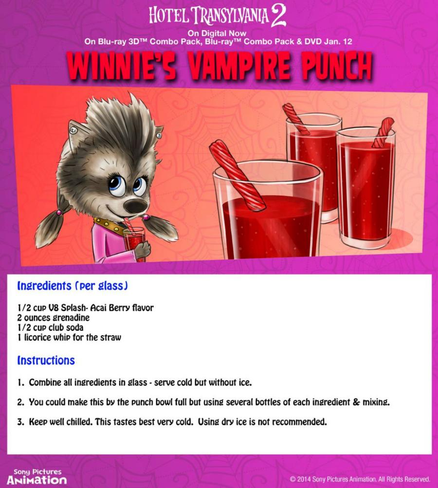 Hotel Transylvania Halloween Party Food - Winnie's Vampire Punch