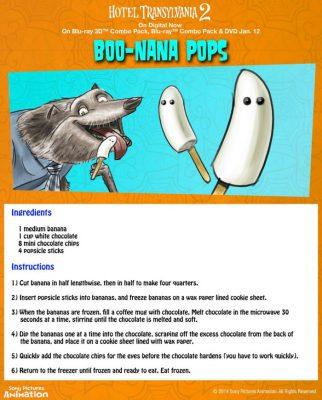 Hotel Transylvania Halloween Party Food – Boo-Nana Pops