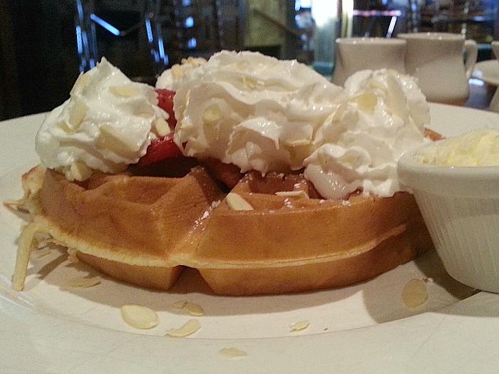 Waffle at Harris Ranch Restaurant - Coalinga, California