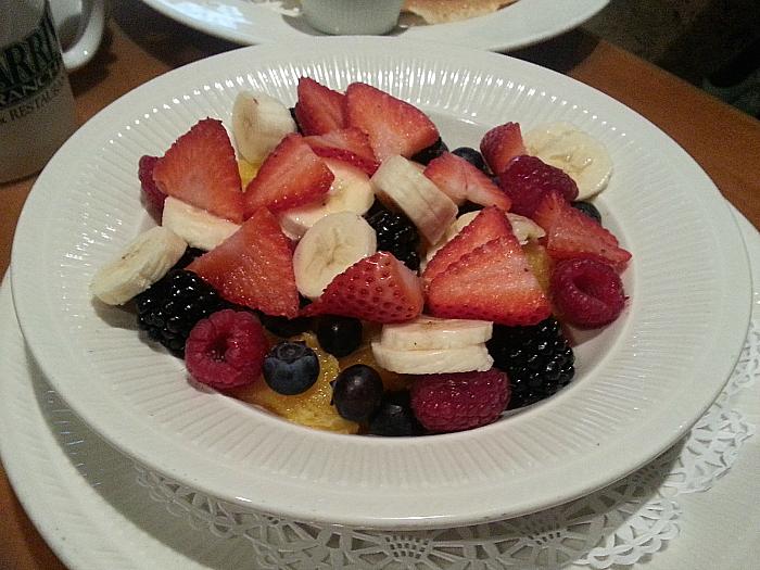Fruit Bowl at Harris Ranch Restaurant - Coalinga, California
