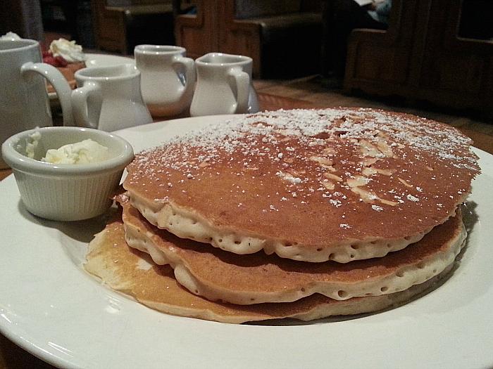 Almond Pancakes at Harris Ranch Restaurant - Coalinga, California