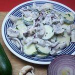 Zucchini Mushroom Salad Recipe