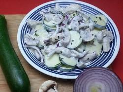 Zucchini Mushroom Salad