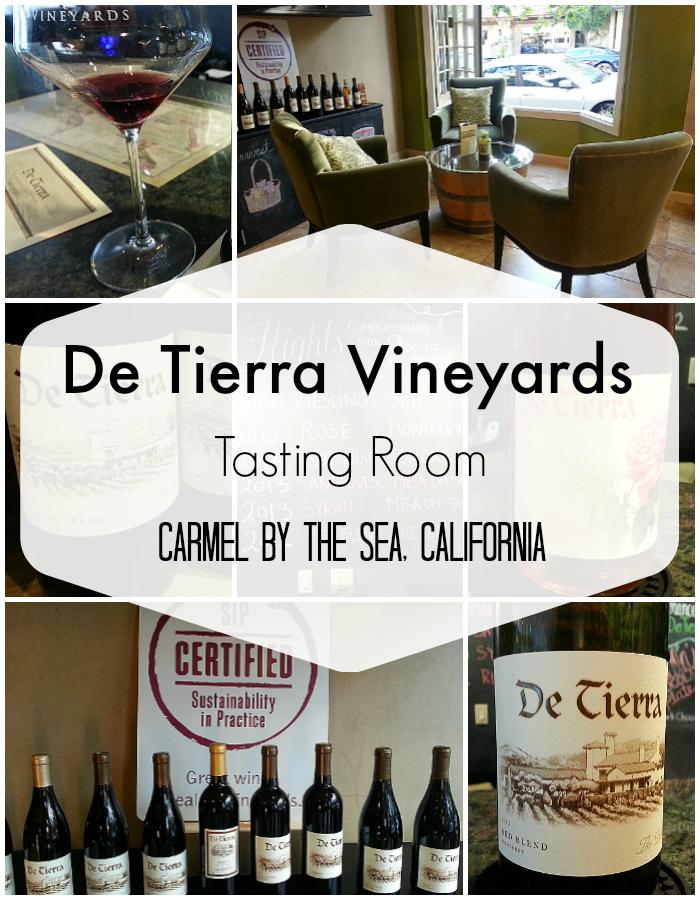 De Tierra Vineyards Tasting Room in Carmel by The Sea