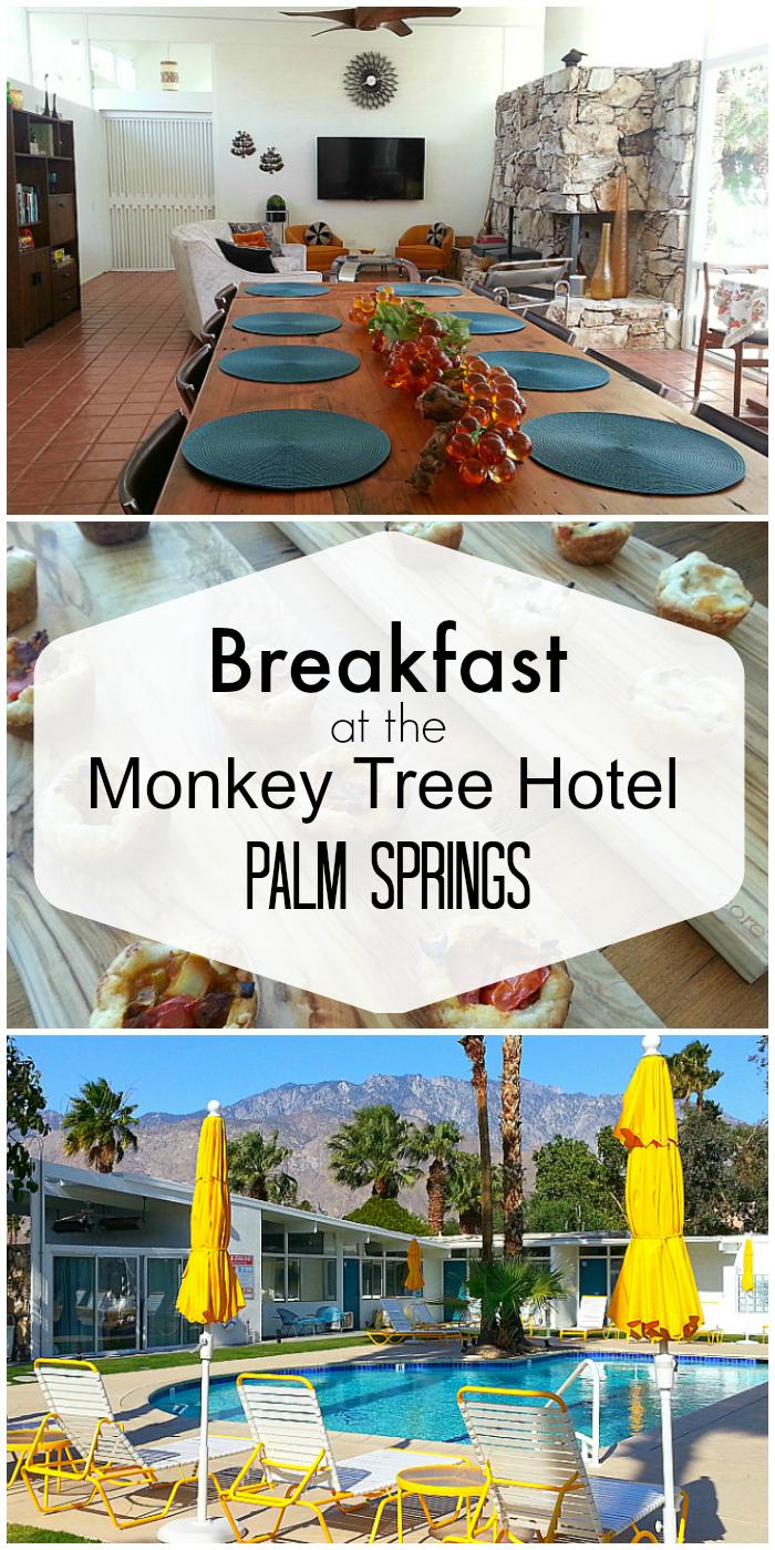 Monkey Tree Hotel Breakfast in Palm Springs