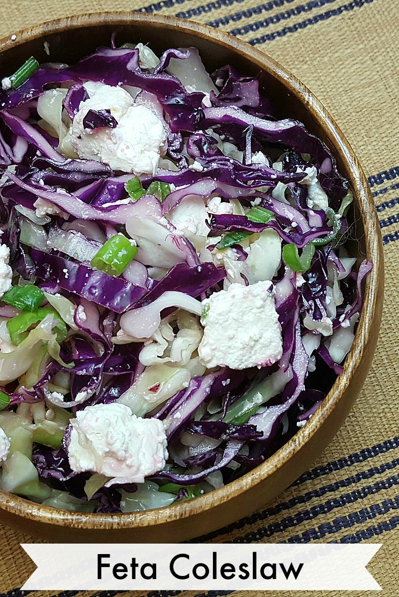 Feta Coleslaw Recipe for Picnics - Summer Salad