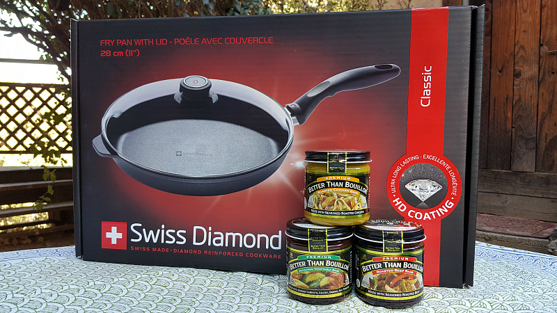 Swiss Diamond Pan and Better Than Bouillon Bases