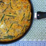 Asparagus Blue Cheese Frittata