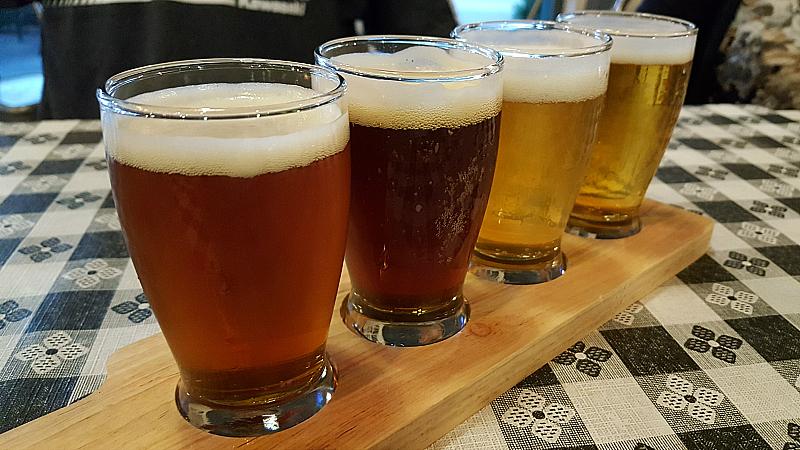 Craft Beer Flight at Green2Go - Brea, California