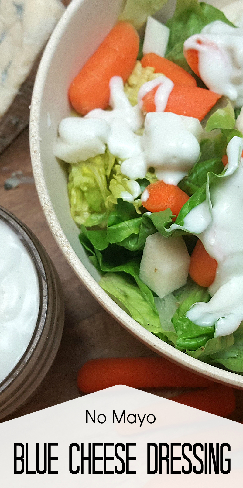 Easy Blue Cheese Dressing Recipe (No Mayo!)
