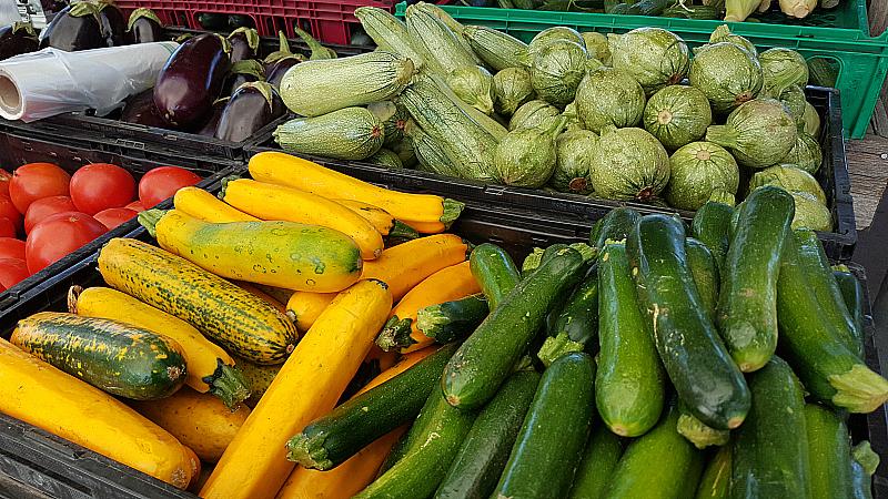 Veggies at SoCo Farmer's Market - Costa Mesa, California