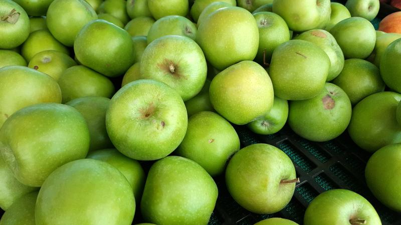 Green Apples at SoCo Farmer's Market - Costa Mesa, California