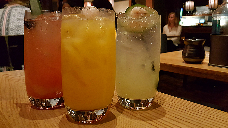 Spirit-free beverages at Nobu - Hard Rock Hotel - San Diego, California