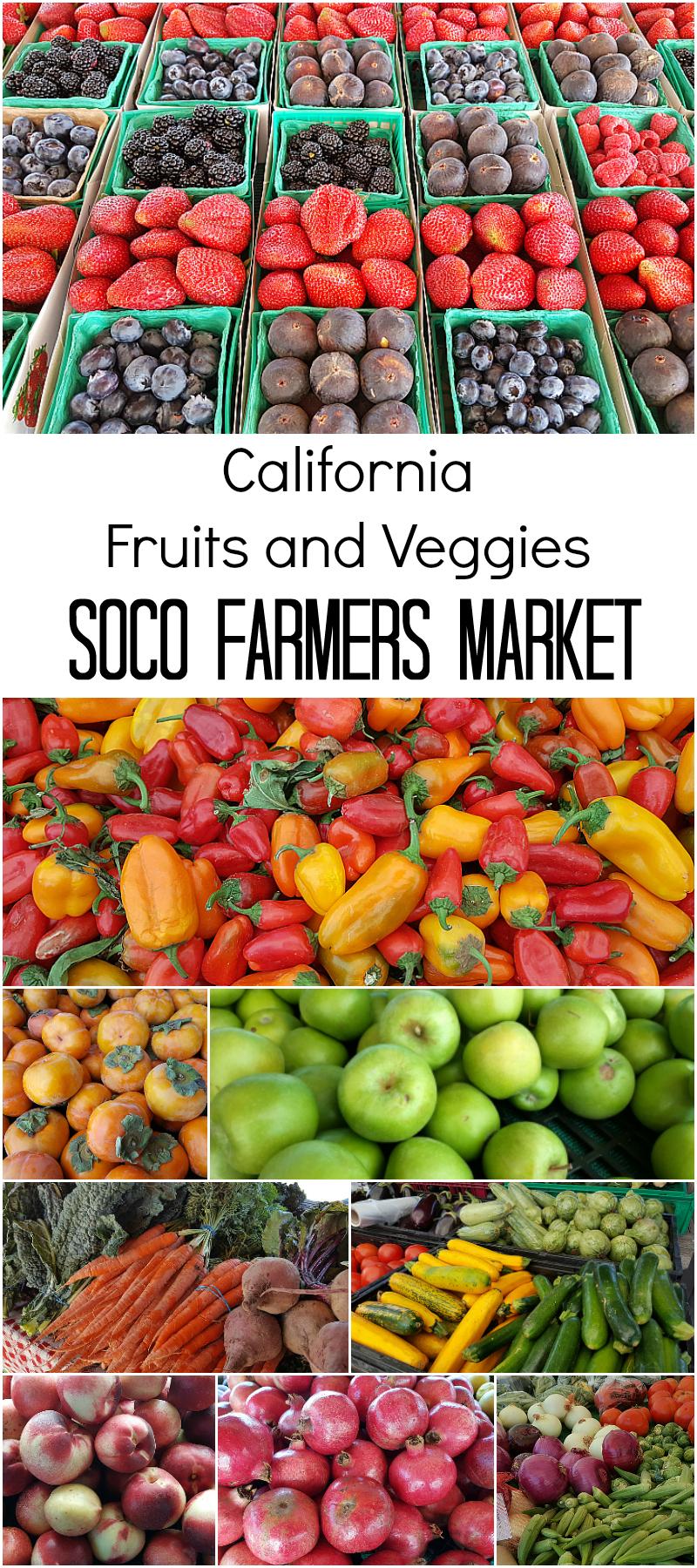 California Fruits and Veggies at the SoCo Farmer's Market - Costa Mesa, California