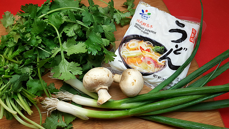 Easy Vegetarian Udon Noodle Soup