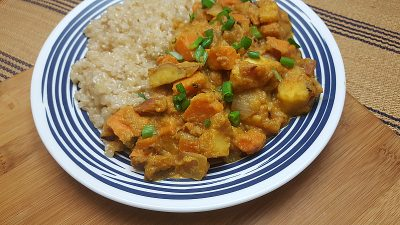 Pumpkin and Sweet Potatoes with Brown Rice
