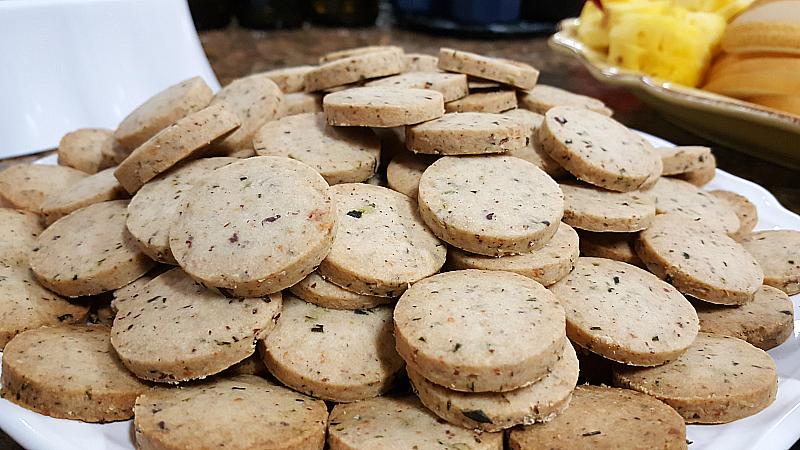 Rosemary Parmesan Savory Cookies