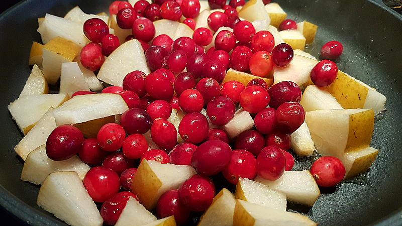 Cranberries and Asian Pears