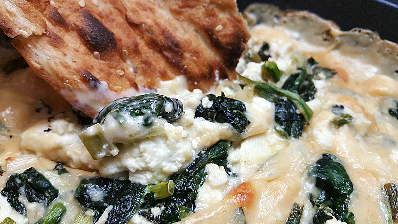 Warm Spinach and Feta Cheese Dip