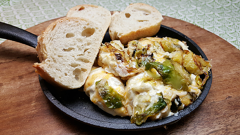 Warm & Cheesy Brussels Sprouts Dip