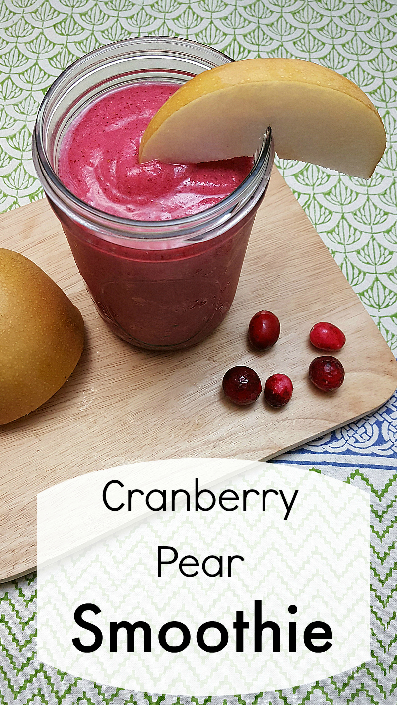 Cranberry Pear Smoothie Recipe