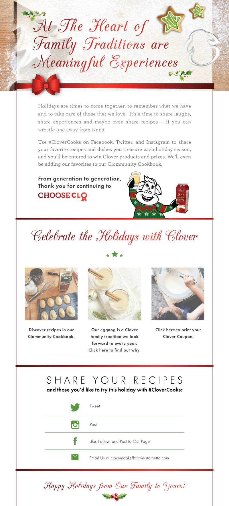 #CloverCooks Holiday Clommunity Cookbook
