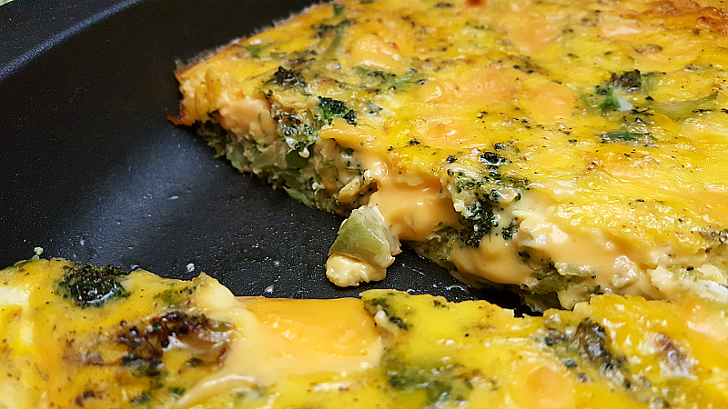 Broccoli Velveeta Cheese Frittata
