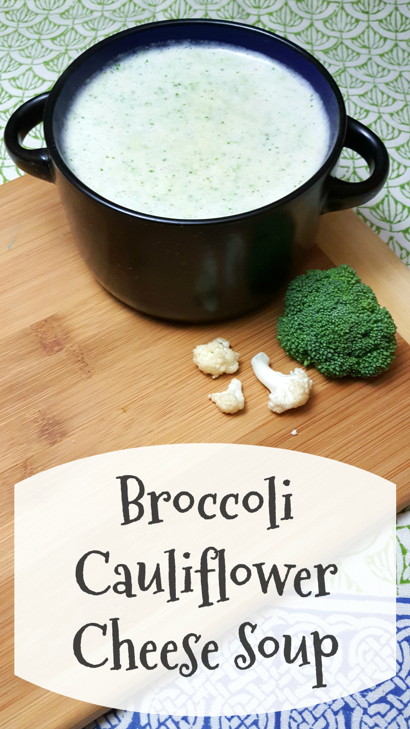 Vegetarian Broccoli Cauliflower Cheese Soup - Easy lunch or dinner