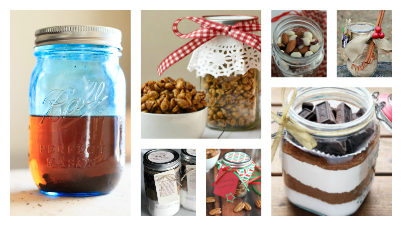 More Than 2 Dozen Mason Jar Food Gifts