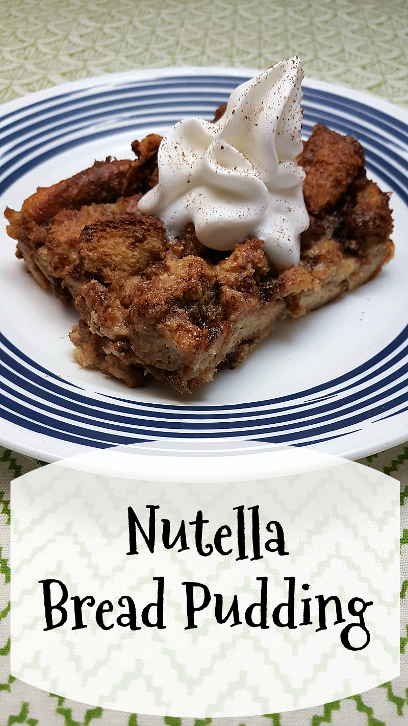 Nutella Bread Pudding | Mama Likes To Cook