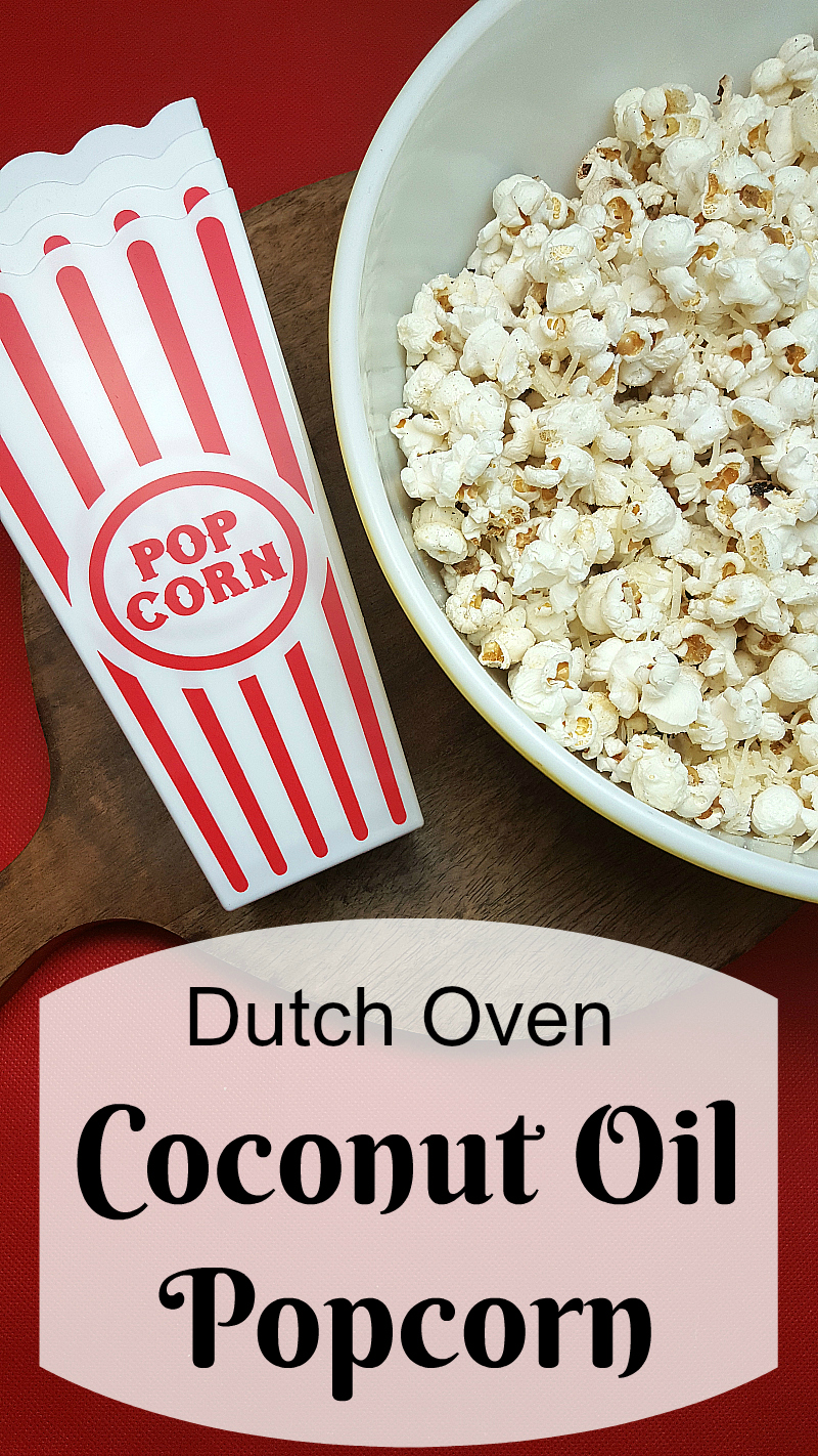 Dutch Oven Coconut Oil Popcorn
