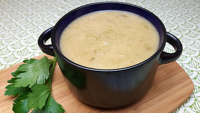 Vegan Cream of Celery Soup