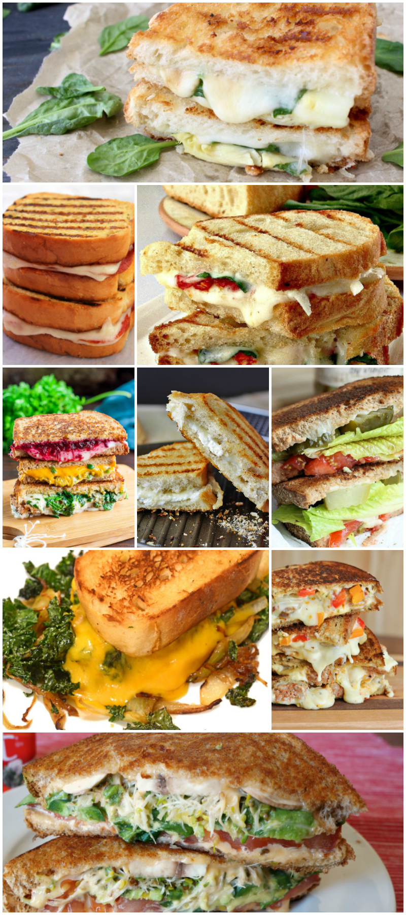 40 Tasty Grilled Cheese Recipes - Food Blogger Recipe Round Up