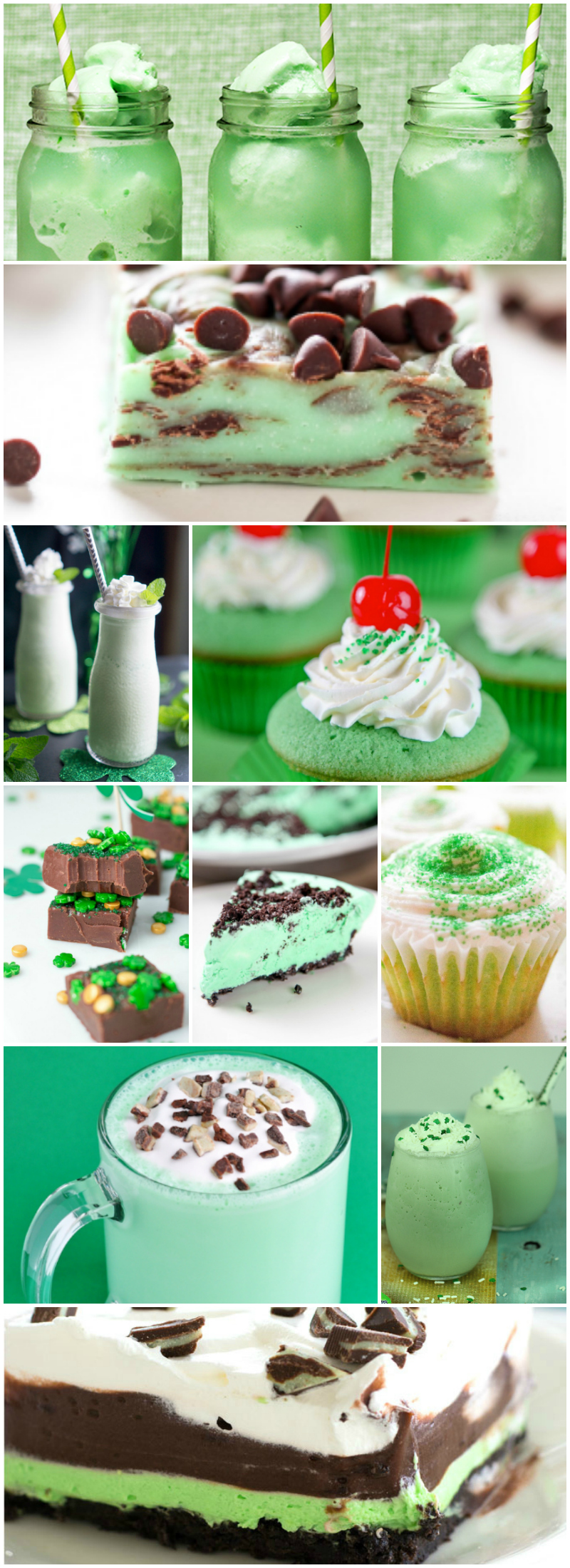 21 Green Desserts for St. Patrick's Day - Food Blogger Recipe Round Up