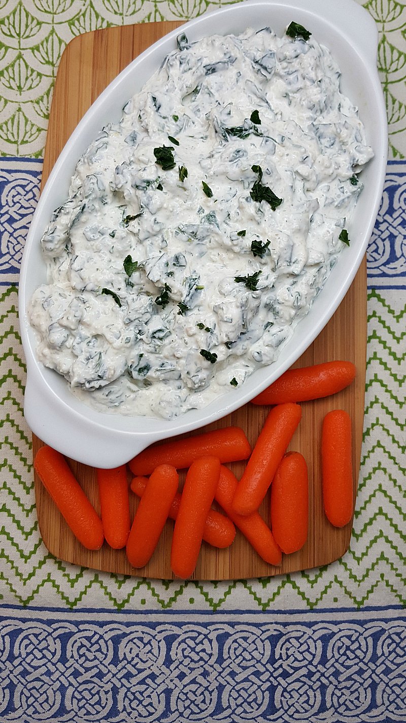 Easy Kale Parmesan Dip for Veggies or Chips